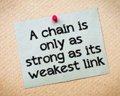 A chain is only as strong as its weakest link — Stock Photo