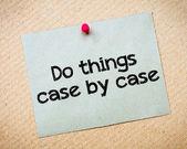 Fazer as coisas caso a caso — Fotografia Stock