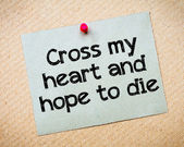 Cross my heart and hope to die — Stock Photo