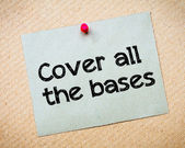 Cover all the bases — Stock Photo