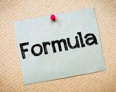 Formula — Stock Photo