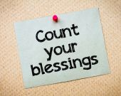Count your blessings — Stock Photo