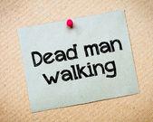 Dead Man Walking — Stock Photo
