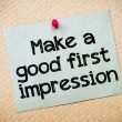 Make a first good impression — Stock Photo #68798851