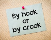 By hook or by crook — Stock Photo