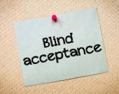 Blind acceptance — Foto Stock