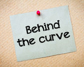 Behind the curve — Stock Photo