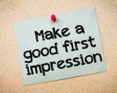 Make a first good impression — Stock Photo