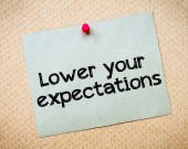 Lower your expectations — Stock Photo
