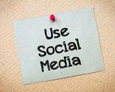 Utiliser les médias sociaux — Photo