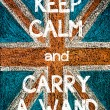 Постер, плакат: Keep Calm and Carry a Wand