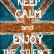 Постер, плакат: Keep Calm and Enjoy the Silence