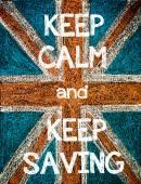 Keep Calm and Keep Saving — Стоковое фото