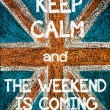 Keep Calm and The Weekend is Coming — Stock Photo #68888811