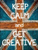 Keep Calm and Get Creative — Stok fotoğraf
