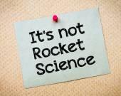 Het is niet rocket science — Stockfoto