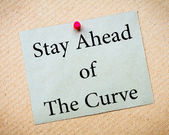 Stay Ahead of the Curve — Zdjęcie stockowe