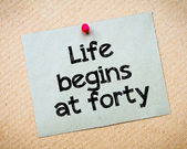 Life Begins at Forty — Stock Photo