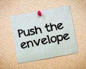 Empurrar o envelope — Fotografia Stock
