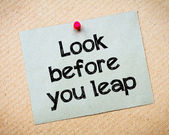 Look Before You Leap — Stock Photo