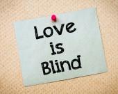 Kärleken är blind — Stockfoto
