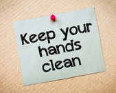 Keep Your Hands Clean — Stock Photo
