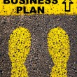 Business Plan message. Conceptual image — Stok fotoğraf #70315585