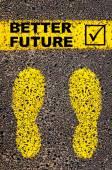 Lepší budoucnost a zaškrtnutí podepisovat. Konceptuální obrázek — Stock fotografie