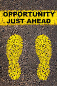 Opportunity Just Ahead message. Conceptual image — Stockfoto