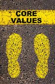 Core Values  message. Conceptual image — Foto de Stock