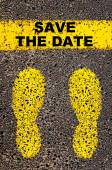 Save the Date message. Conceptual image — Stock Photo