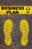 Business Plan message. Conceptual image — Stock Photo