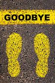 Goodbye message. Conceptual image — Φωτογραφία Αρχείου