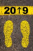 Year 2019  is coming message. Conceptual image — Stock Photo