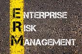 Acronym ERM - Enterprise Risk Management — Stock fotografie