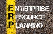 Acronym ERP - Enterprise Resource Planning — Stok fotoğraf