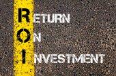 Acronym ROI - Return On Investment — Stok fotoğraf