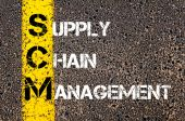Acronym SCM- Supply Chain Management — Stock Photo