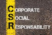 RSE de acrônimo - Responsabilidade Social Corporativa — Fotografia Stock