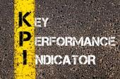 Acronym KPI - Key Performance Indicator — Stok fotoğraf