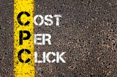 Acronym CPC- Cost Per Click — Stock Photo