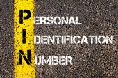 Acronym PIN - Personal Identification Number — Stock Photo
