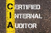 Business Acronym CIA as Certified Internal Auditor — Zdjęcie stockowe