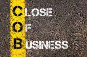 Business Acronym COB as Close of Business — Zdjęcie stockowe