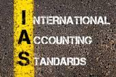 Business Acronym IAS as International Accounting Standards — Stock Photo