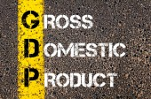 Business Acronym GDP as Gross Domestic Product — Stock Photo