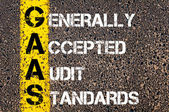 Business Acronym GAAS as Generally Accepted Audit Standards — Stock fotografie