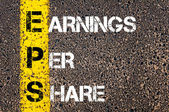 Business Acronym EPS as Earnings per share — Stock Photo
