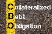 Business Acronym CDO as Collateralized debt obligation — Stock Photo
