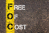 Business Acronym FOC- Free Of Cost — Stock Photo
